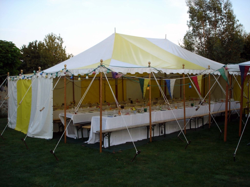& Yellow and White Marquee | Top Up Tents